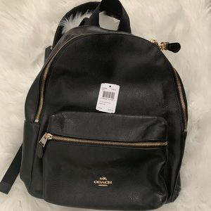 Gorgeous Coach black pebbled leather backpack 🎒